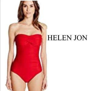 Helen Jon Red One Piece Bathing Suit Size XP